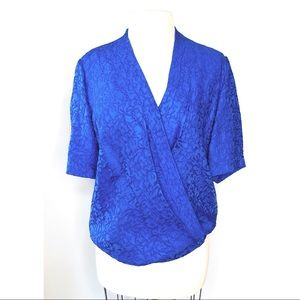Diane Von Furstenberg | royal blue wrap blouse